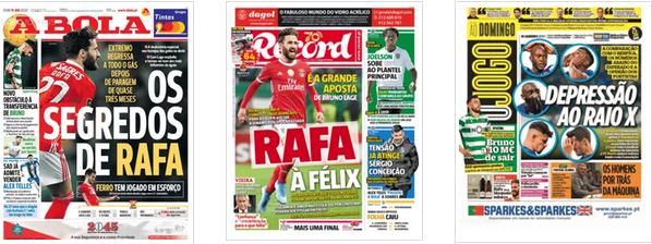 Revista de Imprensa: Ainda Rafa e um FC Porto em 'depressão'