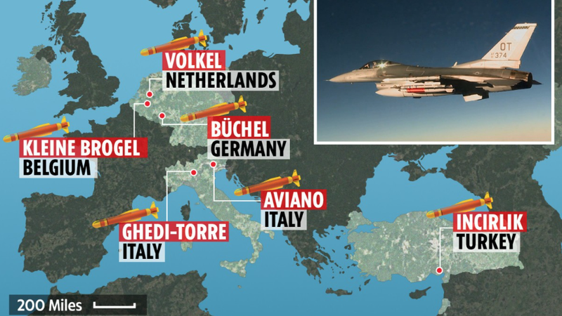 É verdade que os EUA têm 100 bombas nucleares instaladas em território europeu?