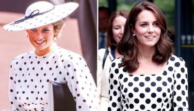 Ocasiões em que Diana influenciou o estilo de Kate