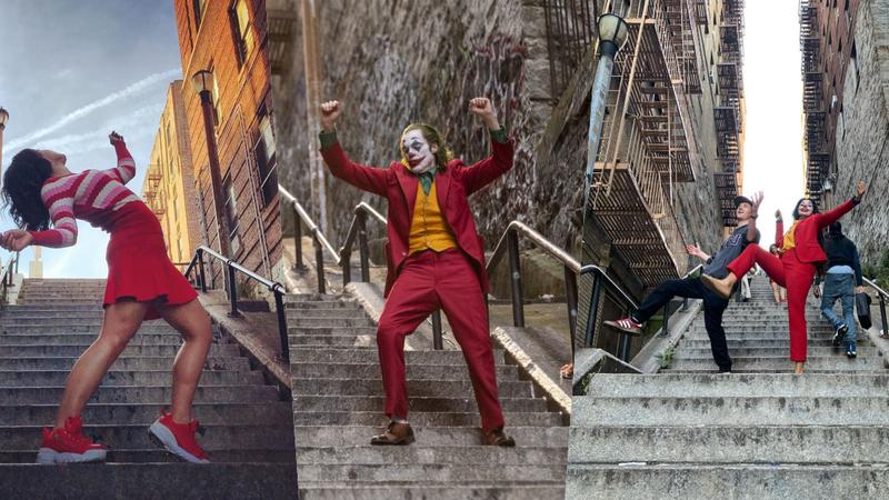 Escadaria do novo filme de 'Joker' torna-se uma atração turística em Nova Iorque