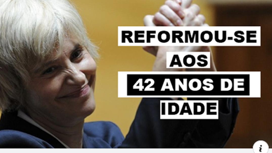 Assunção Esteves reformou-se aos 42 anos com reforma superior a 7 mil euros por 10 anos de serviço?