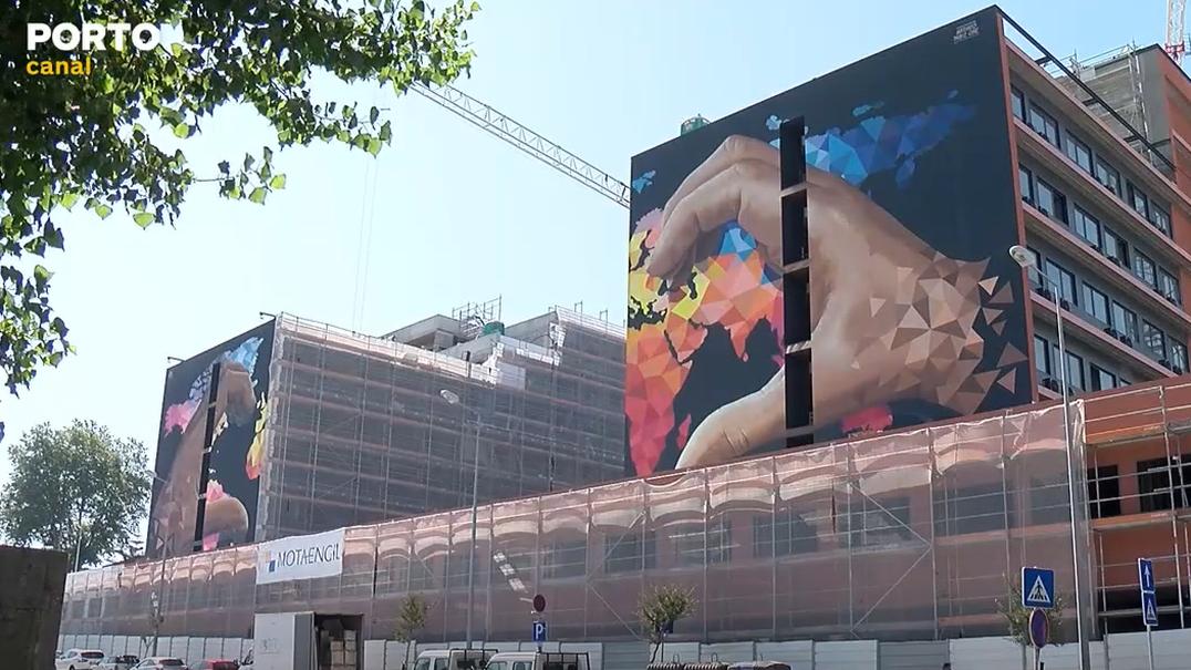 Cidade do Porto tem novo grafitti contra o racismo e xenofobia