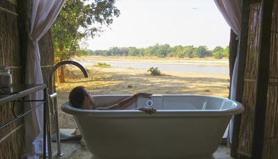 Uma banheira com vista sobre África