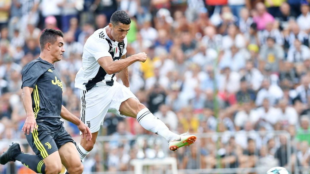 O primeiro golo de Cristiano Ronaldo pela Juventus