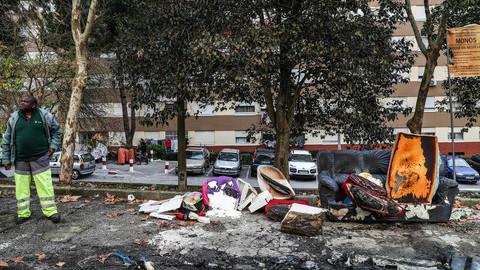 Ambiente calmo em Odivelas e Póvoa de Santo Adrião onde arderam quatro viaturas