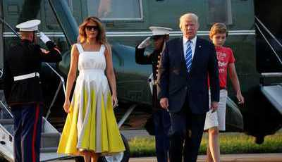 O vestido amarelo de Melania Trump que deu nas vistas