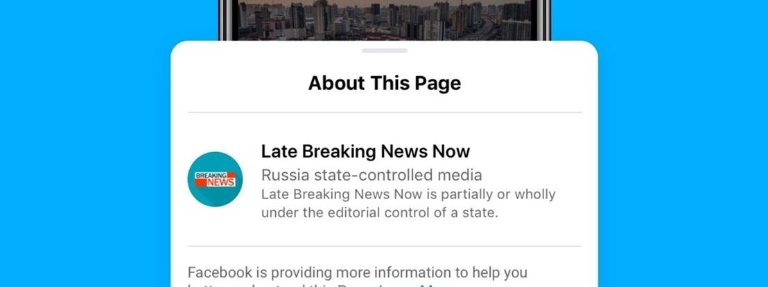 Facebook passa a assinalar posts de media controlados por Estados e proíbe os seus anúncios nos EUA