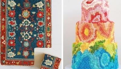 Tapetes servem de inspiração a californiana para criar bolos incríveis
