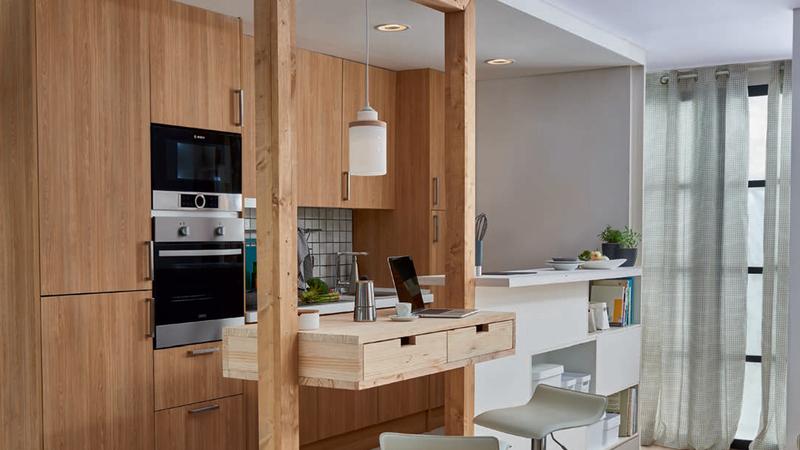 A cozinha também pode ser um espaço para receber a família e os amigos!