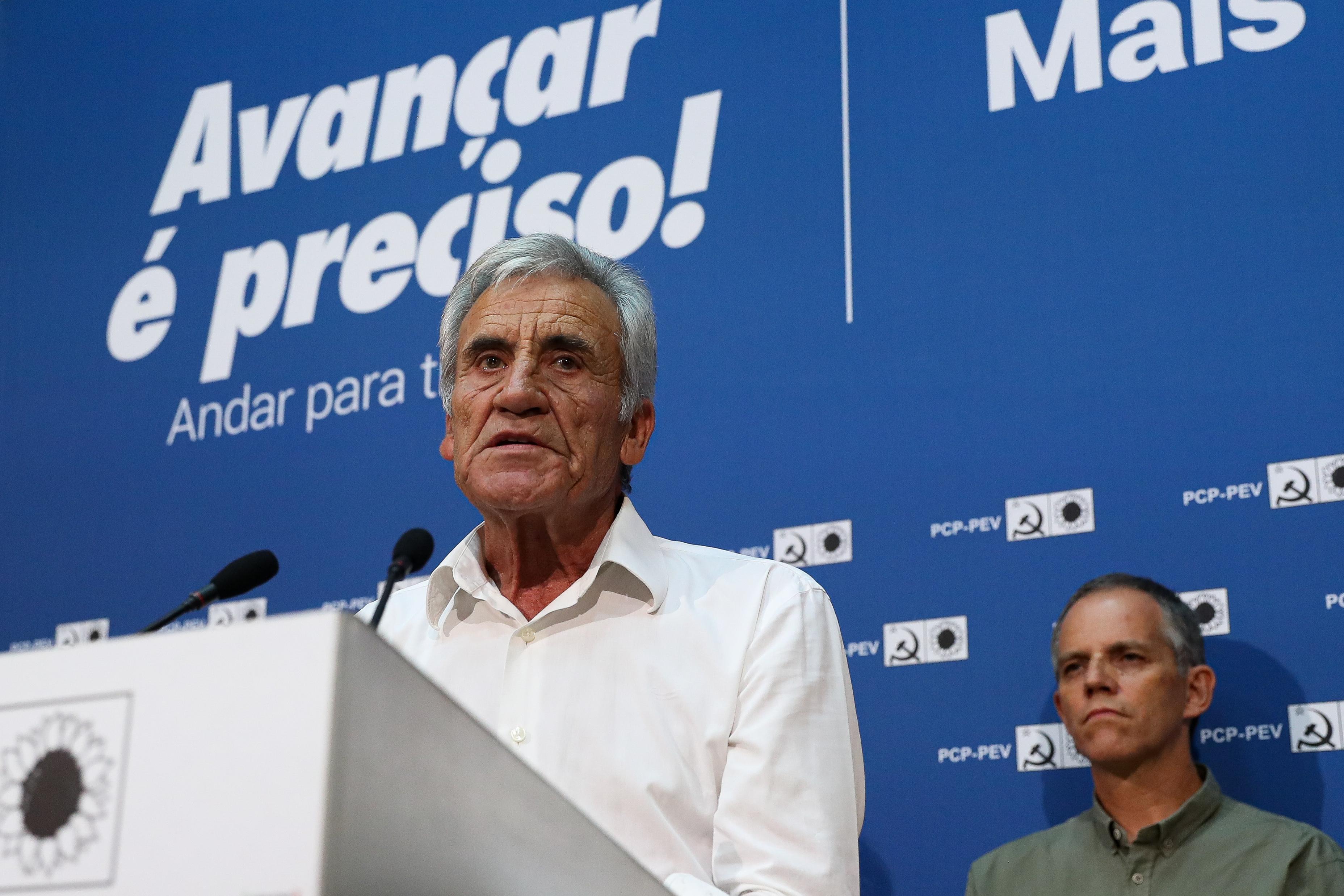 Jerónimo acusa PS, PSD e CDS de quererem rever leis eleitorais para falsificar resultados
