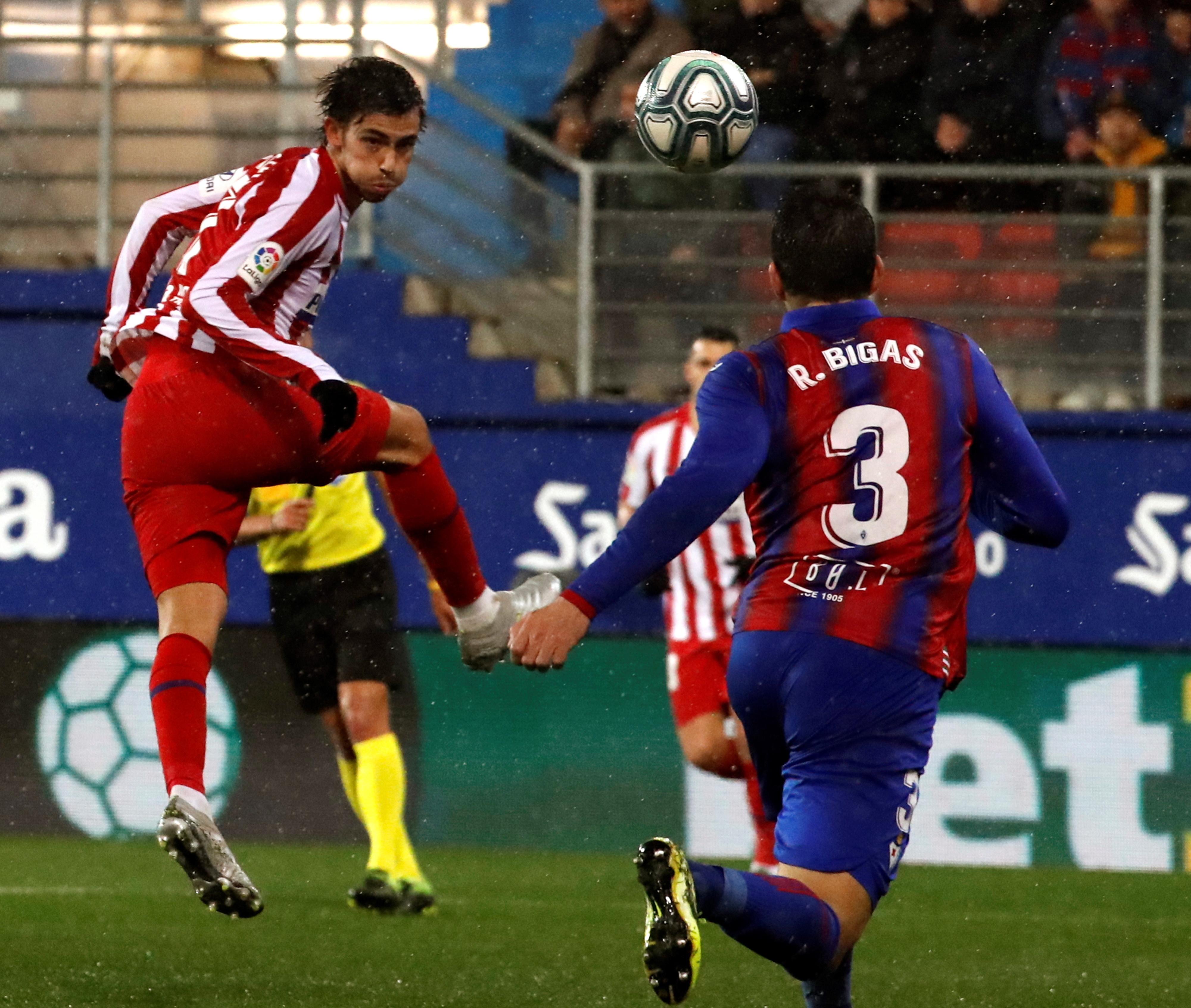 Exibição apagada de Atlético Madrid e João Félix custa derrota em Eibar