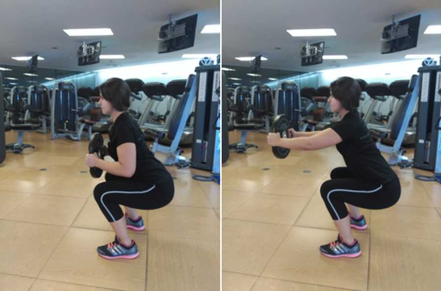 Air Squat with Chest Press
