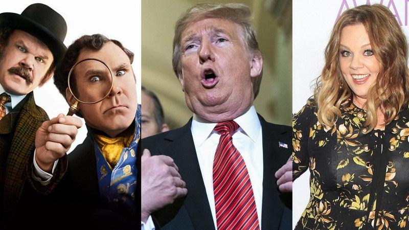 "Razzies: ""Holmes & Watson"", Trump e Melissa McCarthy vencem ""Óscares"" dos piores"