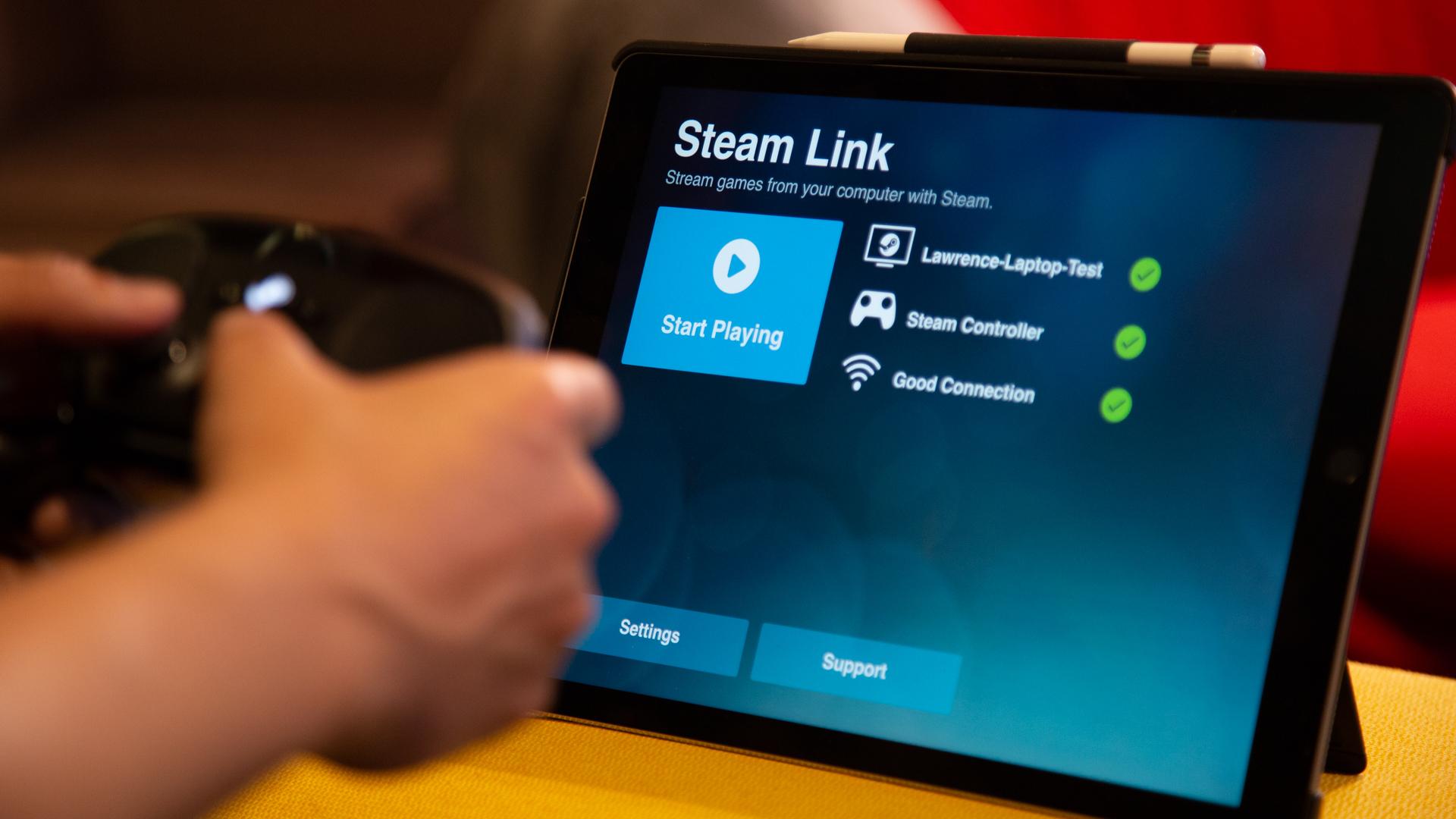 Steam Link é a app que faz streaming dos jogos para o smartphone, tablet ou TV