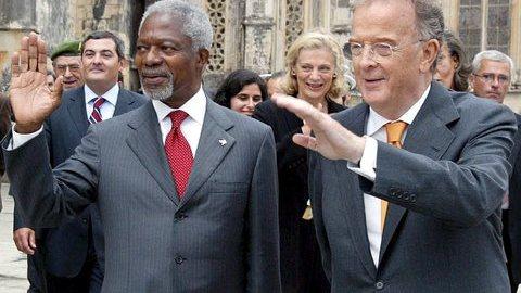"""Jorge Sampaio recorda inteligência e força moral do """"amigo"""" Kofi Annan"""