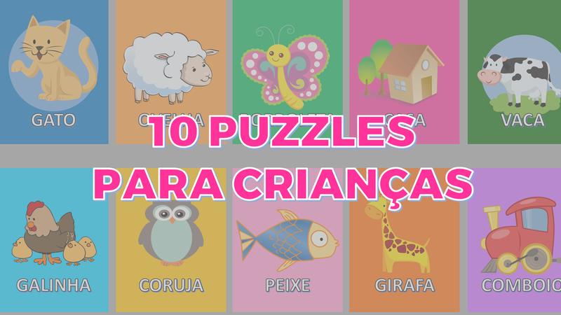 10 puzzles para crianças
