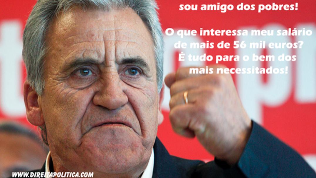 Jerónimo de Sousa ganha mais de 56 mil euros pela sua atividade de deputado?