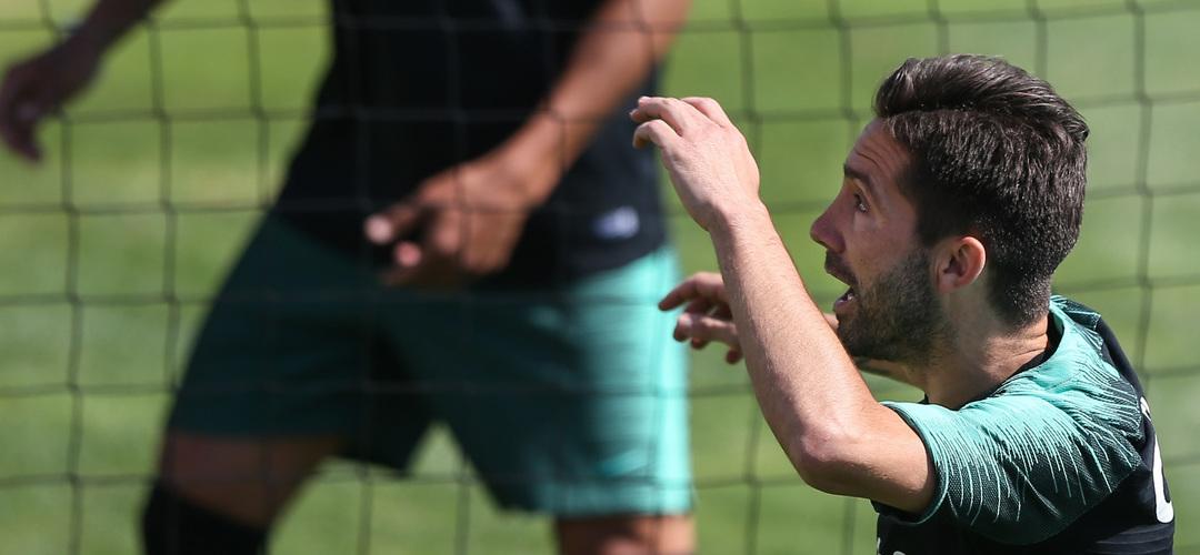 Moutinho junta-se ao treino da seleção. Fernando Santos tem todos os jogadores à disposição