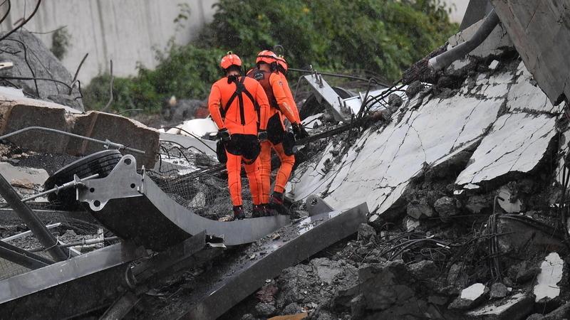 Governo italiano corrige número de vítimas mortais do colapso de ponte para 23