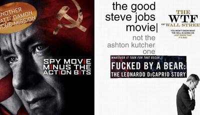 """Filmes dos Óscares """"desmascarados"""" em cartazes honestos"""