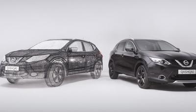 Nissan cria Qashqai em tamanho real com caneta 3D