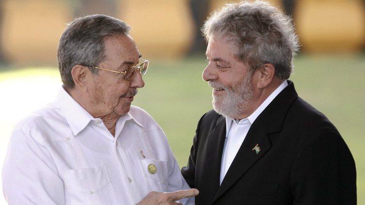 Raul Castro no Brasil