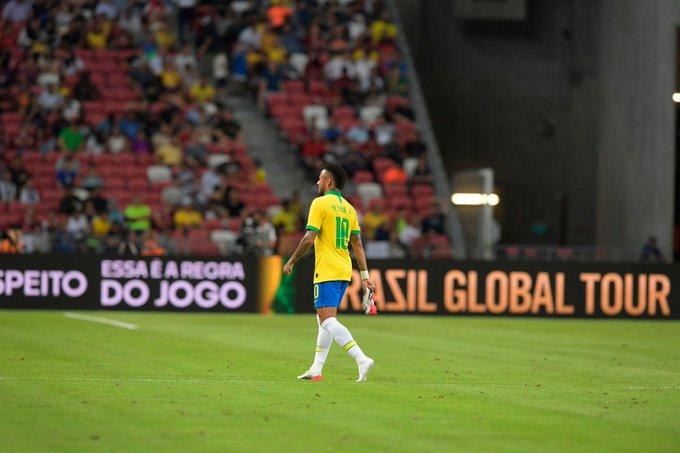 Brasil somou quarto jogo sem vencer, Neymar saiu lesionado