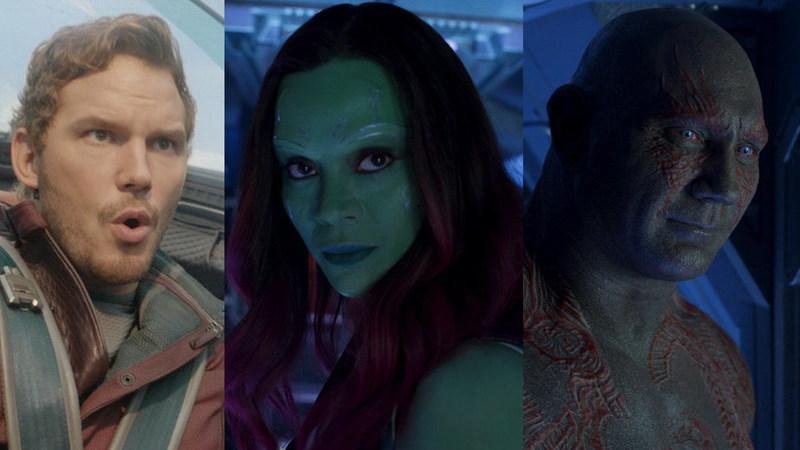 """Descubra as diferenças: Os atores de """"Guardiões da Galáxia"""" no filme e na vida real"""