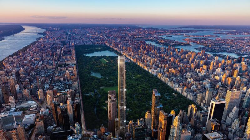 É em Nova Iorque que está a nascer o maior edifício residencial do mundo. Central Park Tower fica concluído em 2020