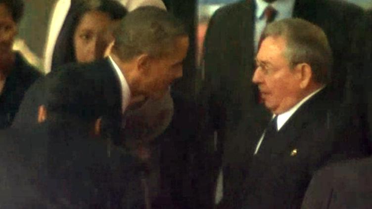 Mandela faz Barack Obama e Raul Castro apertarem a mão
