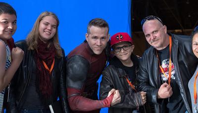 Ryan Reynolds recebe crianças com cancro nas gravações do filme 'Deadpool 2'