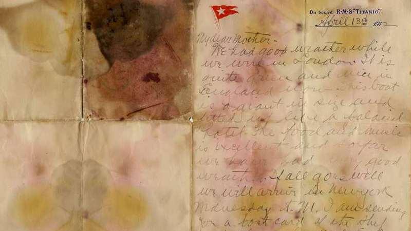Carta de passageiro do Titanic leiloada por 140.600 euros