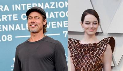 """Brad Pitt e Emma Stone: realizador de """"La La Land"""" junta-os no cinema em 2021?"""
