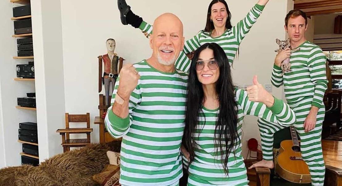 Separados há 20 anos, Bruce Willis e Demi Moore juntos em quarentena
