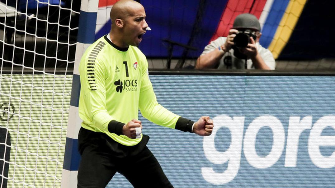 Defesa de Quintana contra a Eslovénia - Andebol no Euro'2020
