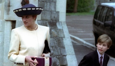 As primeiras imagens do príncipe William com Diana em 'The Crown'