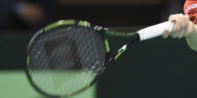 Final da Taça Davis de ténis entre França e Bélgica em Lille, em piso duro