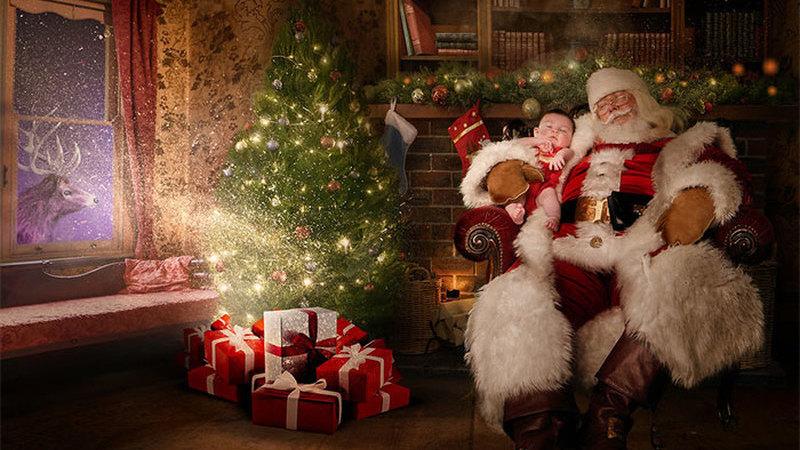 Fotógrafos voluntários transformam hospitais com crianças em lugares mágicos de Natal
