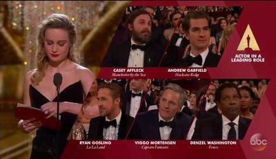 A expressão diz tudo: Brie Larson não queria dar o Óscar a Casey Affleck