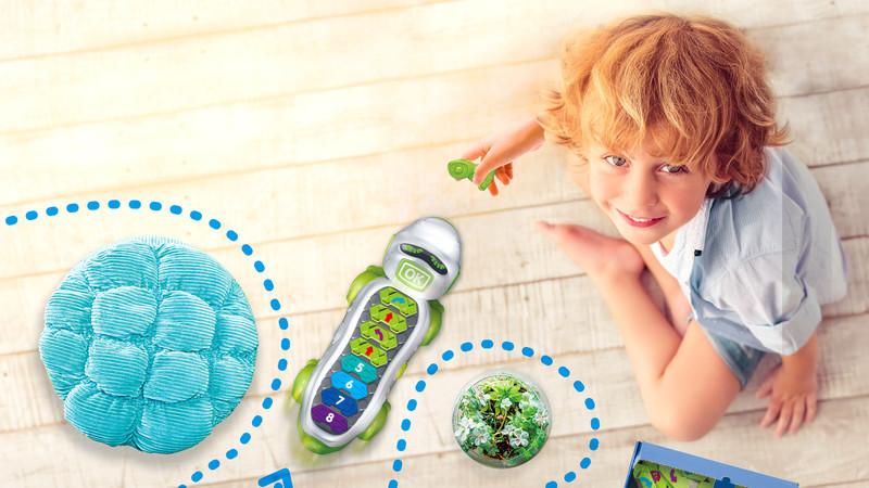 Coko é um crocodilo robô que ajuda a estimular o pensamento lógico e orientação espacial nas crianças
