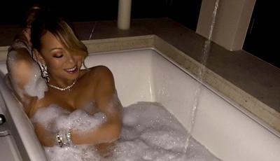 O glamour de Mariah Carey nas atividades mais básicas