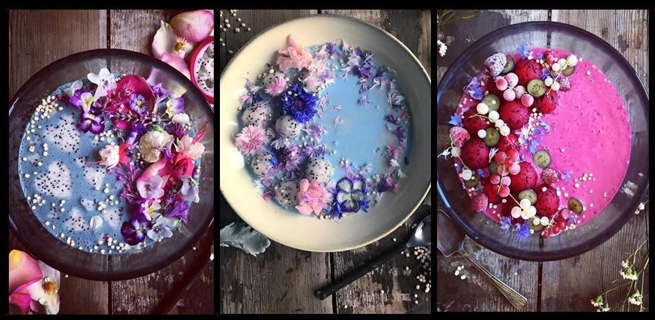 Custa a crer, mas estas maravilhas de cor são taças de leite de coco