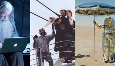 50 imagens inacreditáveis dos bastidores dos filmes
