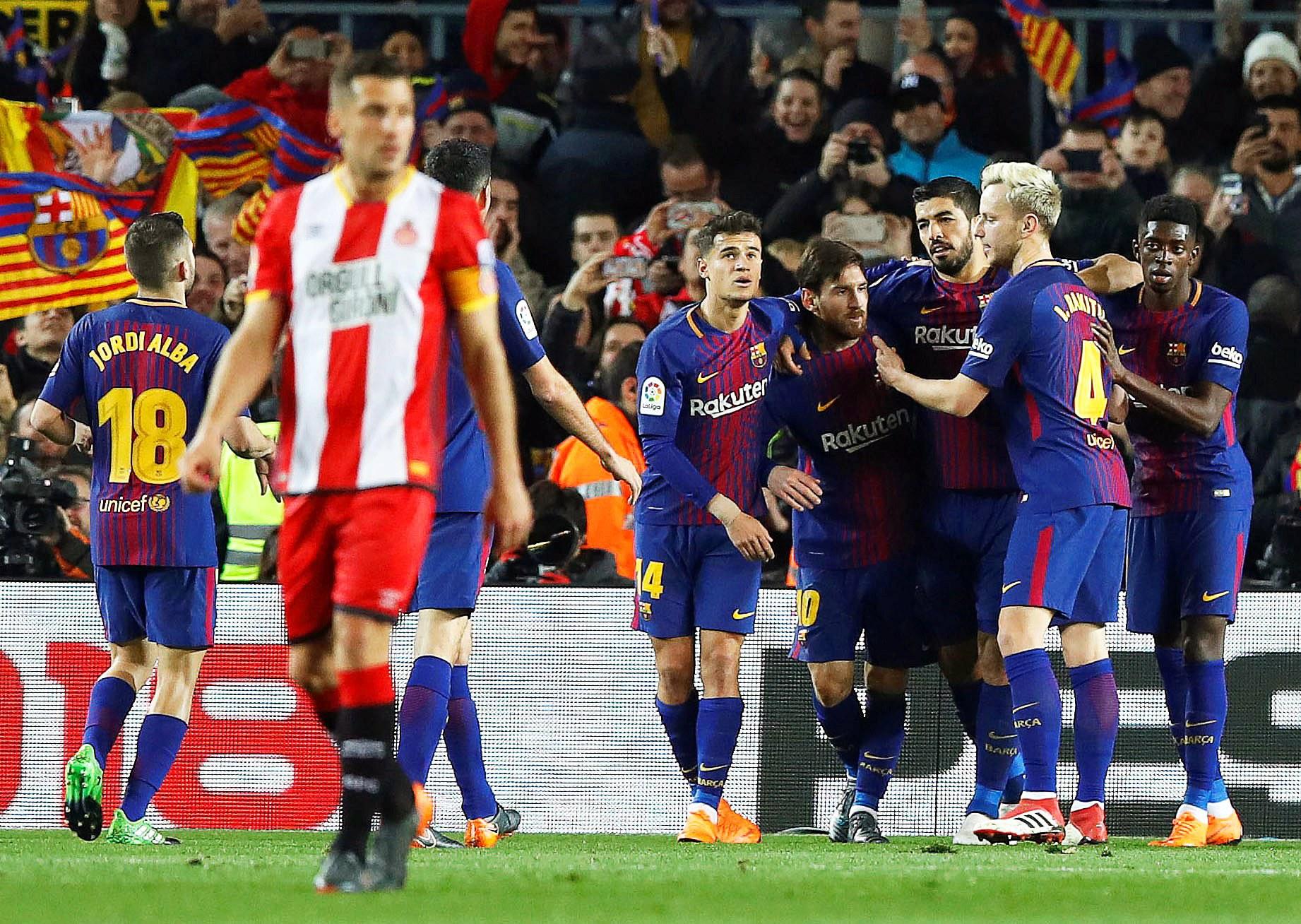 Barcelona aplica goleada das antigas ao 'vizinho' Girona