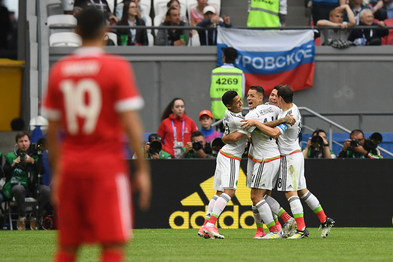 México bate Rússia e segue com Portugal para as ´meias`