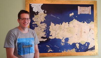 """""""A Guerra dos Tronos"""": Fã pinta mapa dos Sete Reinos"""