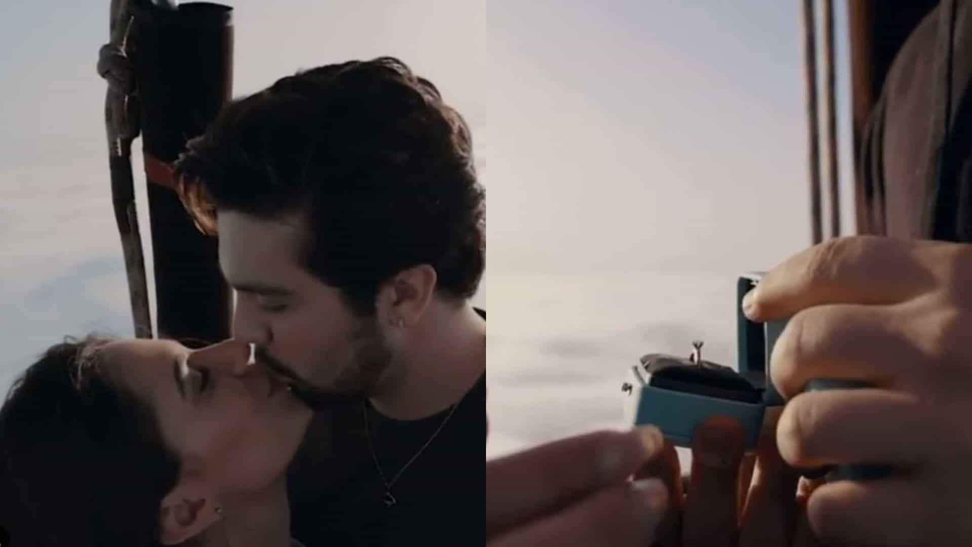 Puro romantismo! Luan Santana pediu a namorada em casamento em Portugal