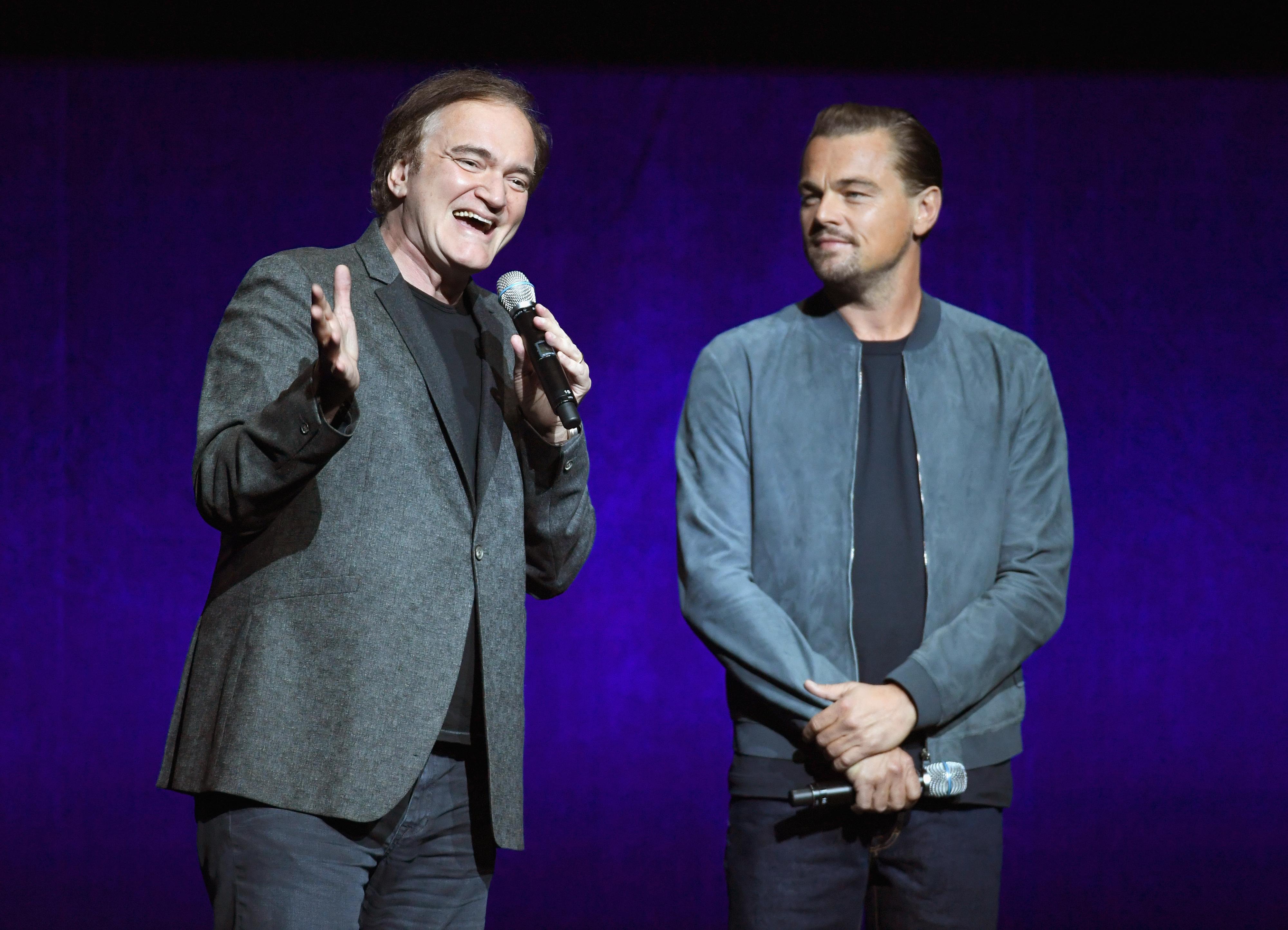 Tarantino e DiCaprio surpreendem Las Vegas e revelam novo projeto. Brad Pitt também entra
