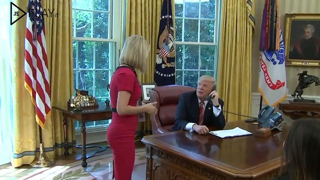 Desta vez Donald Trump foi (muito) simpático para uma repórter irlandesa