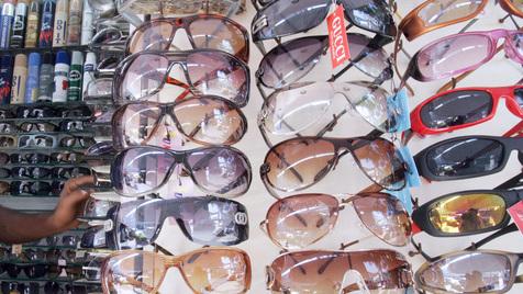 O vendedor de óculos de sol